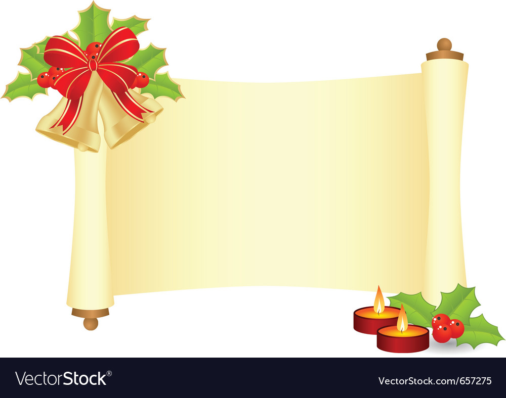 Manuscript with fir branch vector   Price: 1 Credit (USD $1)