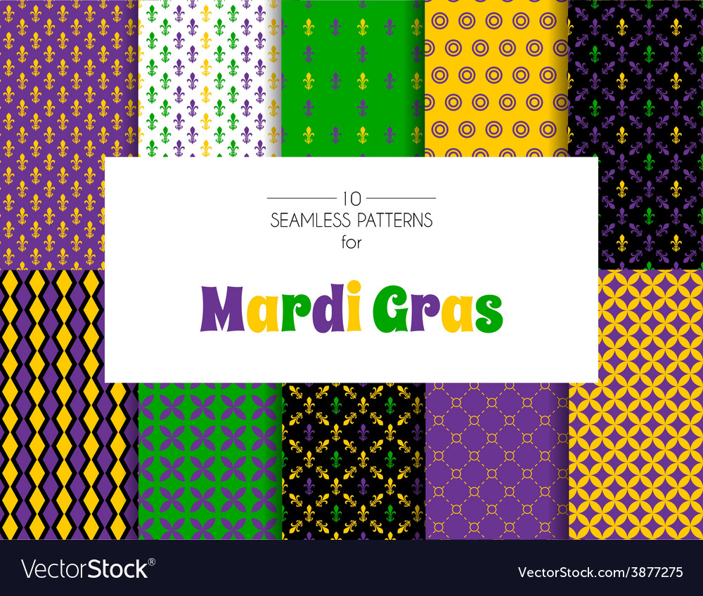 Mardi gras pattern backgrounds vector | Price: 1 Credit (USD $1)
