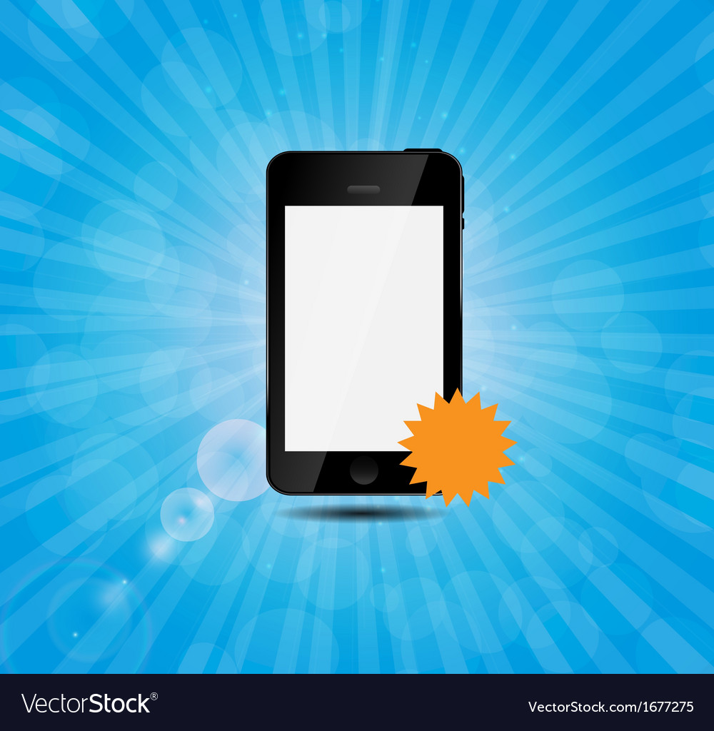 Mobile phone with price label vector | Price: 1 Credit (USD $1)