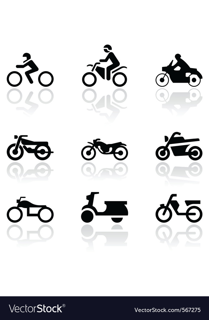 Motorbike symbol set vector | Price: 1 Credit (USD $1)