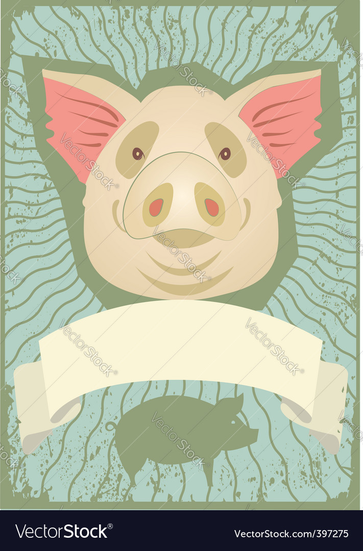 Pig grunge vector | Price: 1 Credit (USD $1)