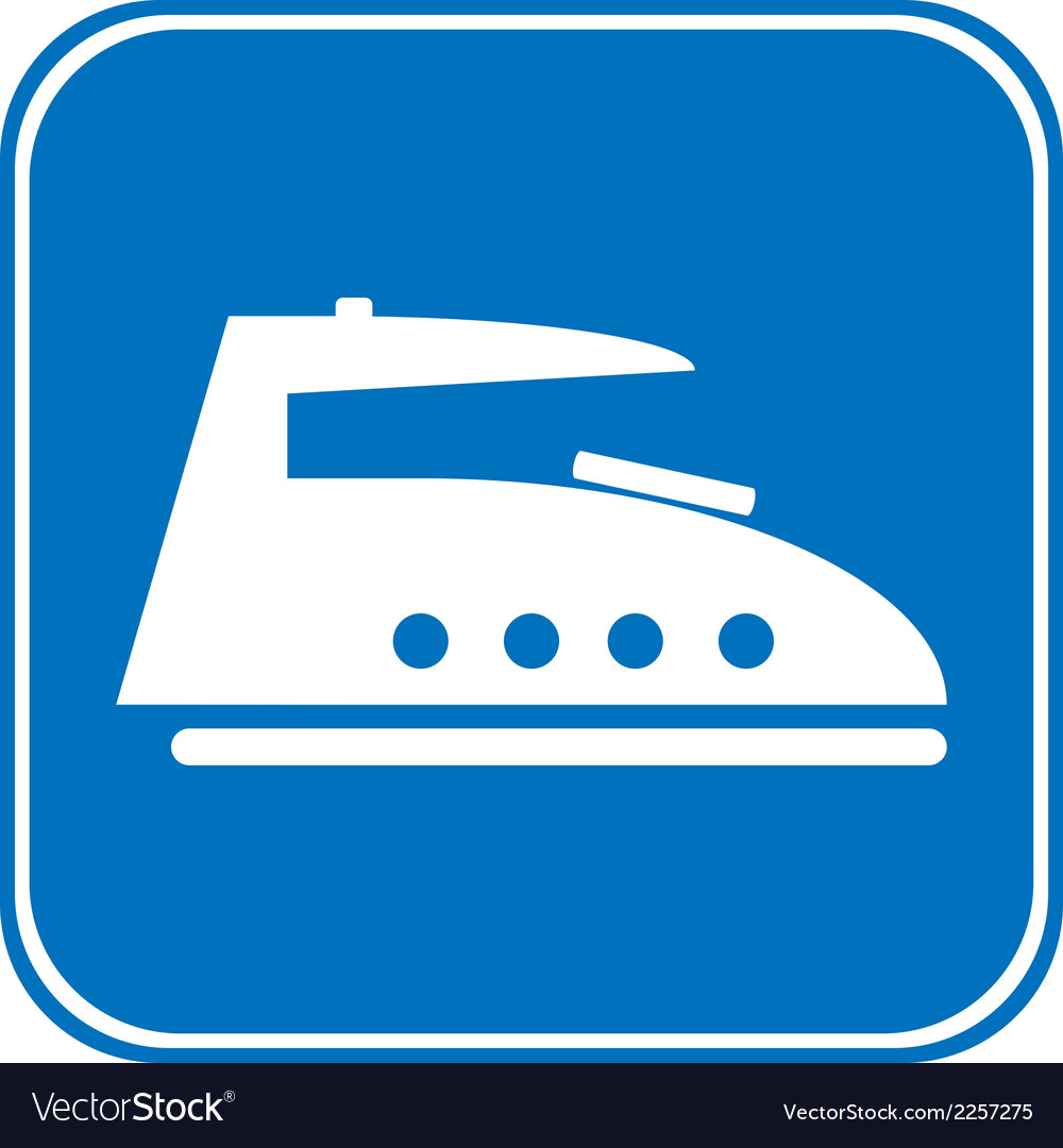 Steam iron button vector | Price: 1 Credit (USD $1)