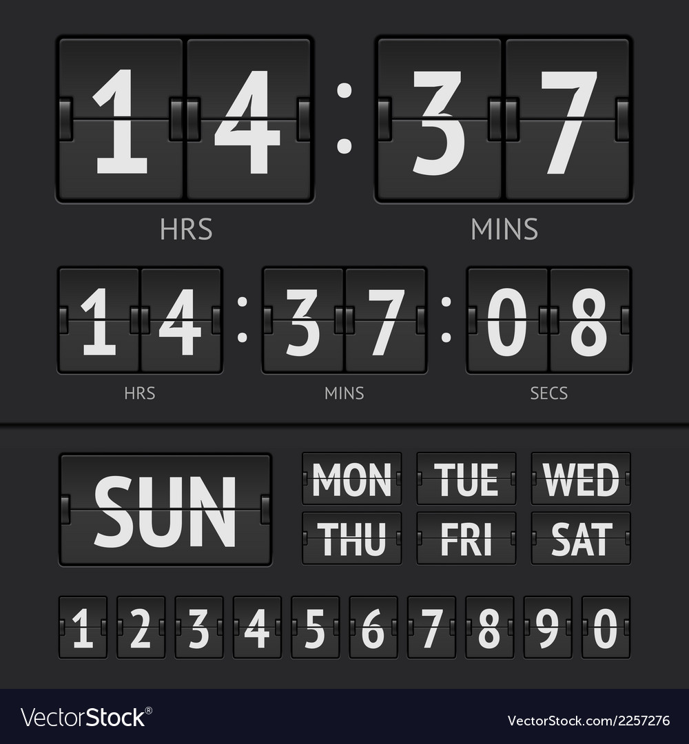 Analog black scoreboard vector | Price: 1 Credit (USD $1)