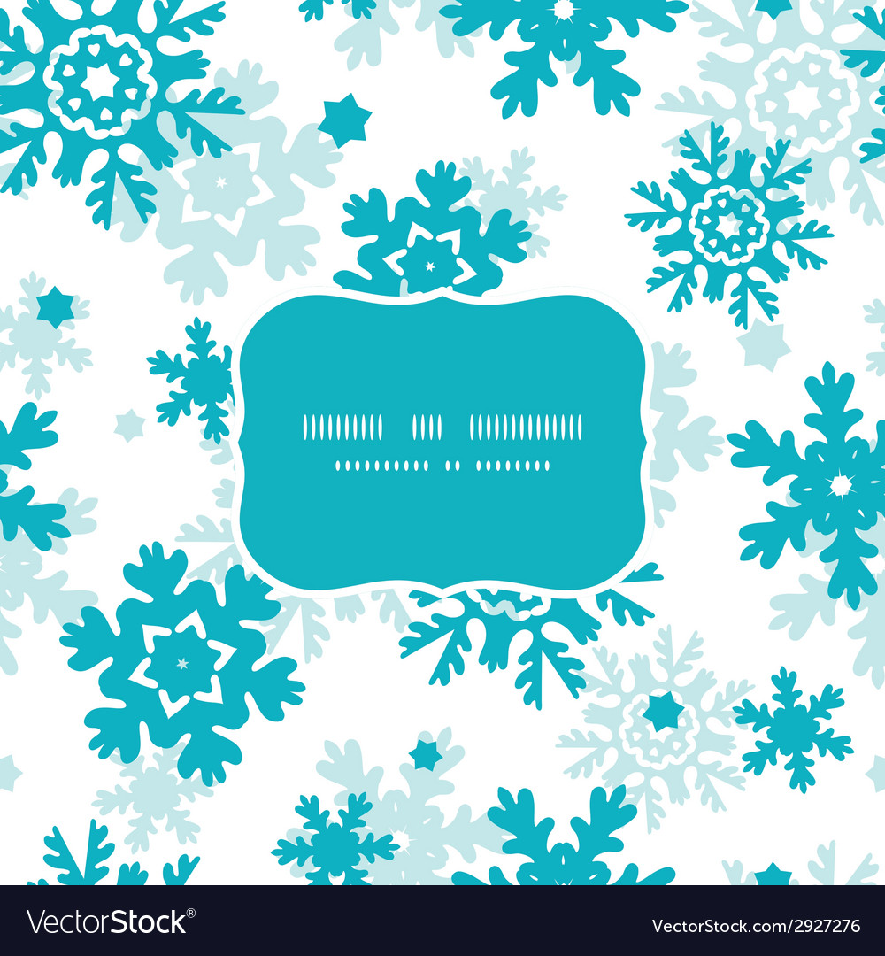 Blue frost snowflakes holiday frame seamless vector   Price: 1 Credit (USD $1)