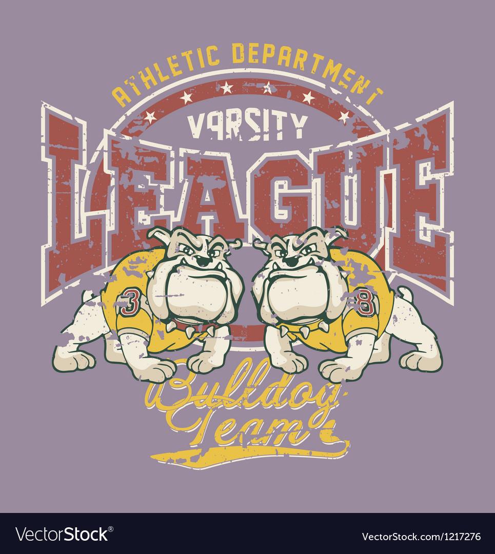 Bulldog football team vector | Price: 1 Credit (USD $1)