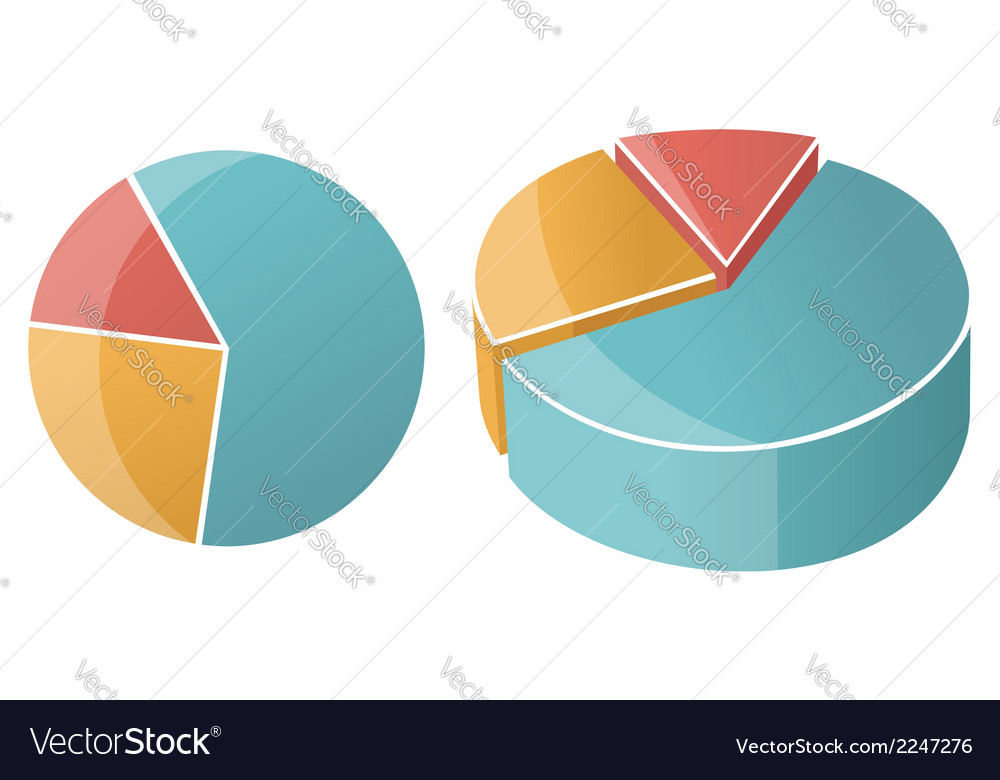 Business pie chart graph vector | Price: 1 Credit (USD $1)