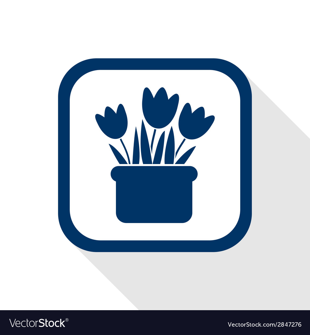 Flowers flat icon vector | Price: 1 Credit (USD $1)