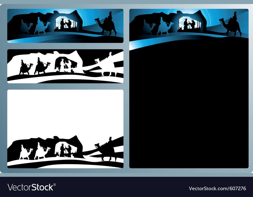 Nativity scene vector | Price: 1 Credit (USD $1)