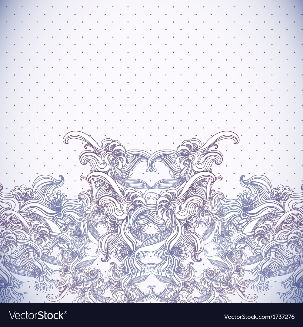 Vintage background baroque pattern vector | Price: 1 Credit (USD $1)