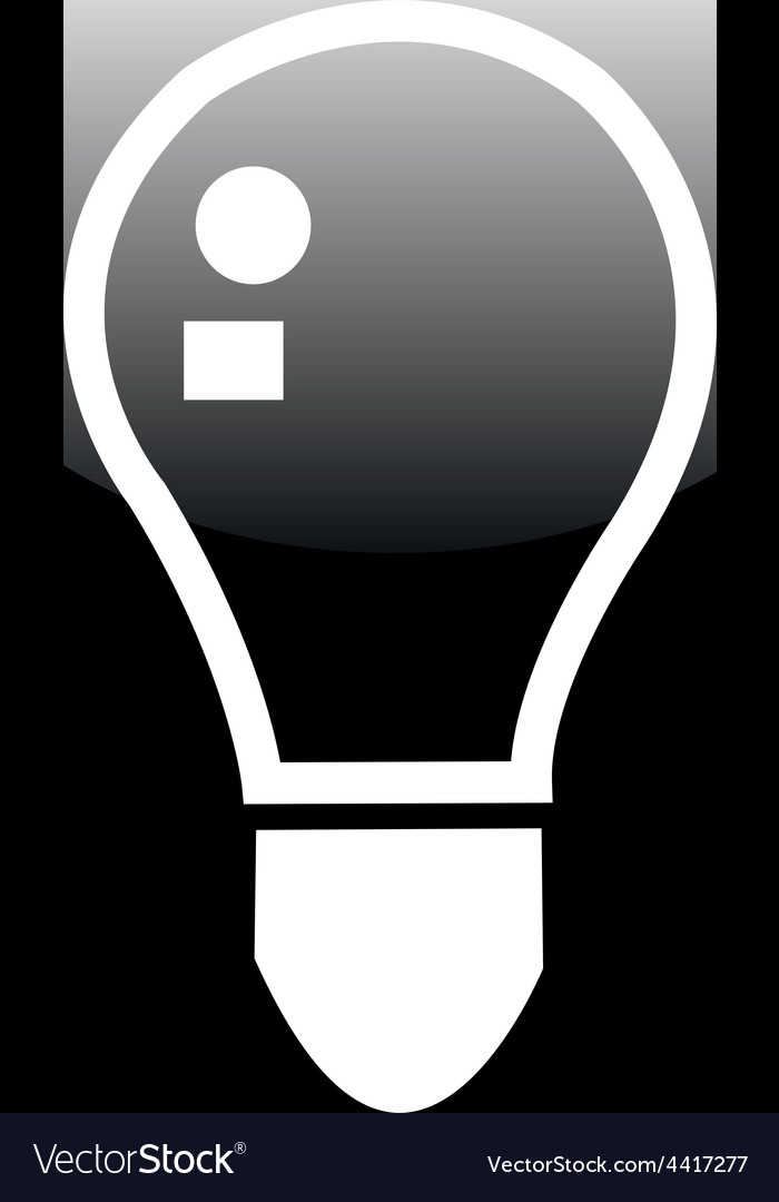 Black button icons  lightbulb icon on a web vector