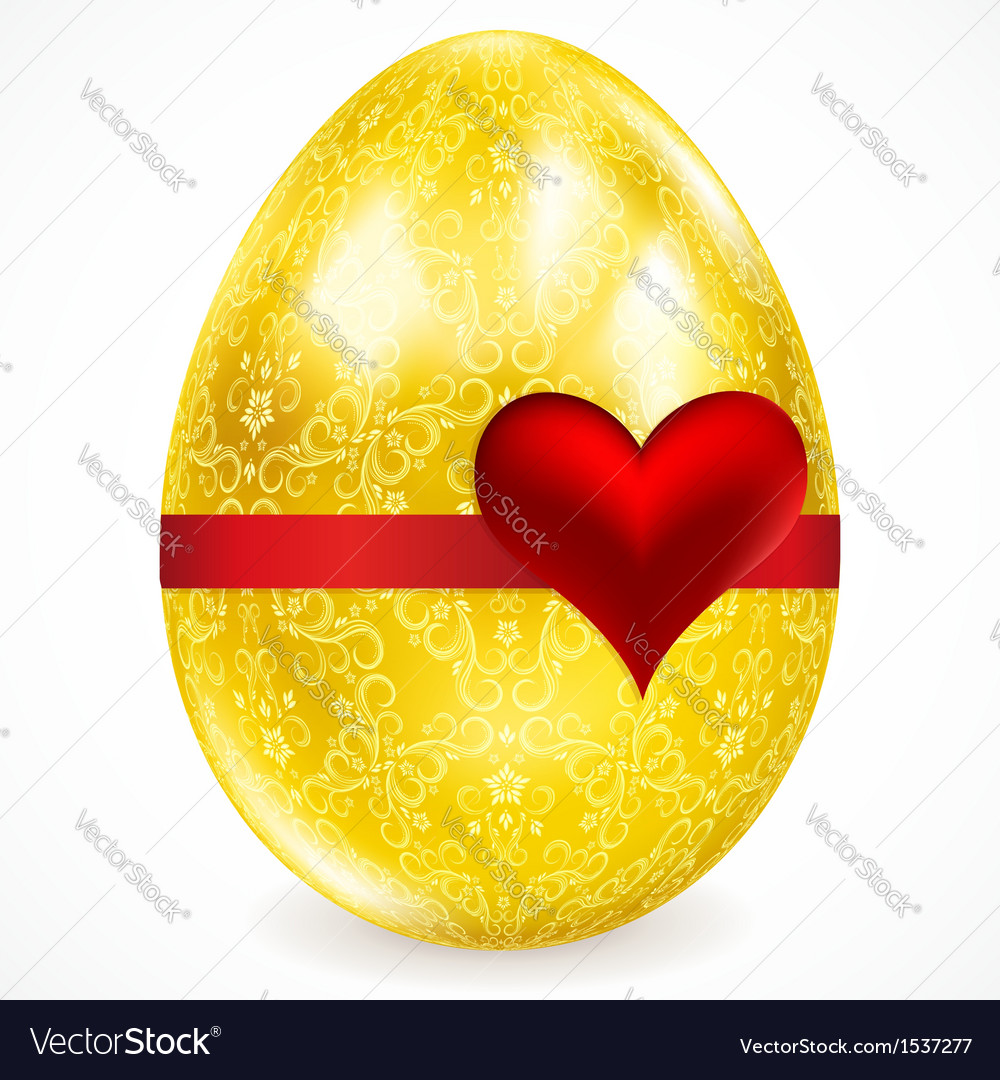 Golden egg with floral ornaments vector | Price: 1 Credit (USD $1)