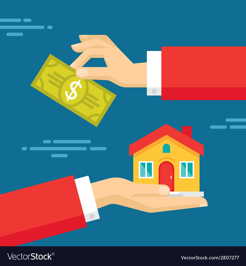 Human hands - real estate concept vector | Price: 1 Credit (USD $1)