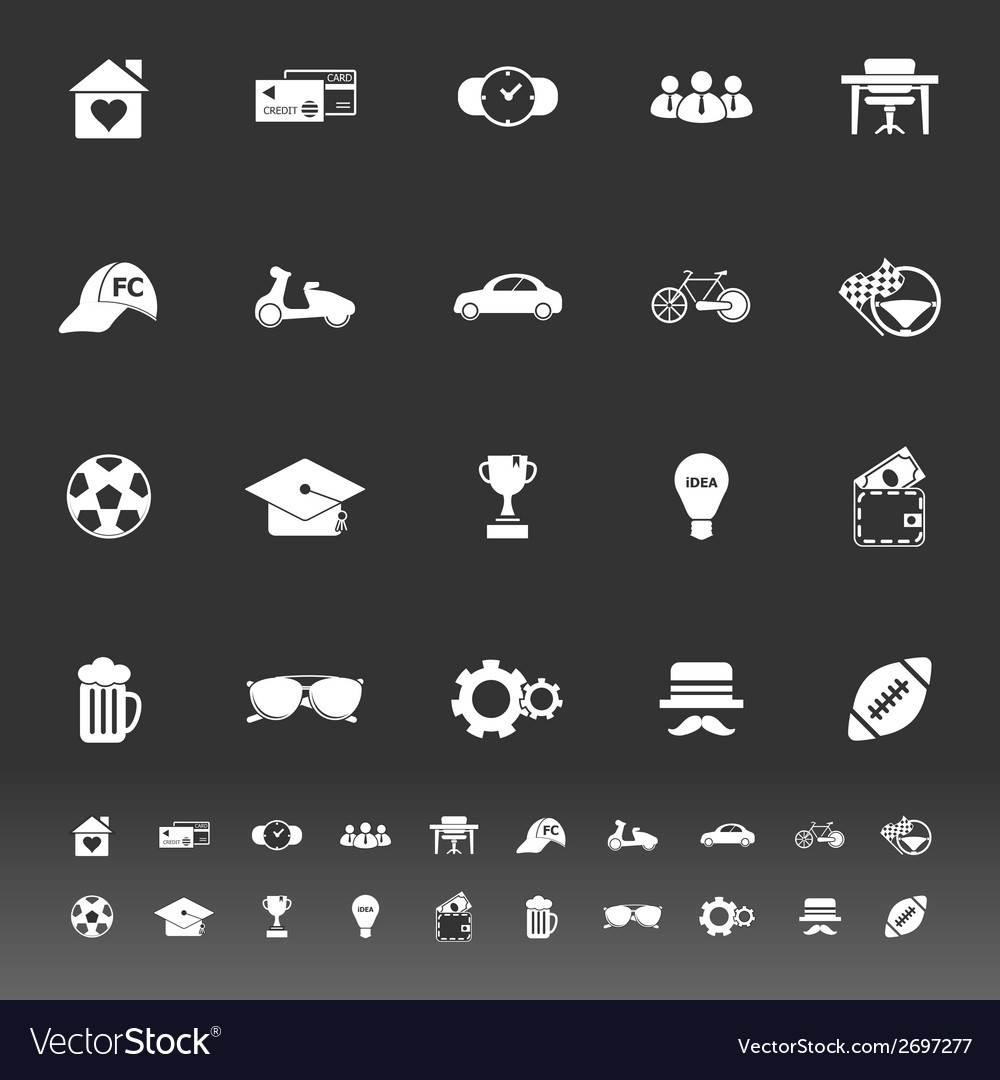 Normal gentleman icons on gray background vector | Price: 1 Credit (USD $1)