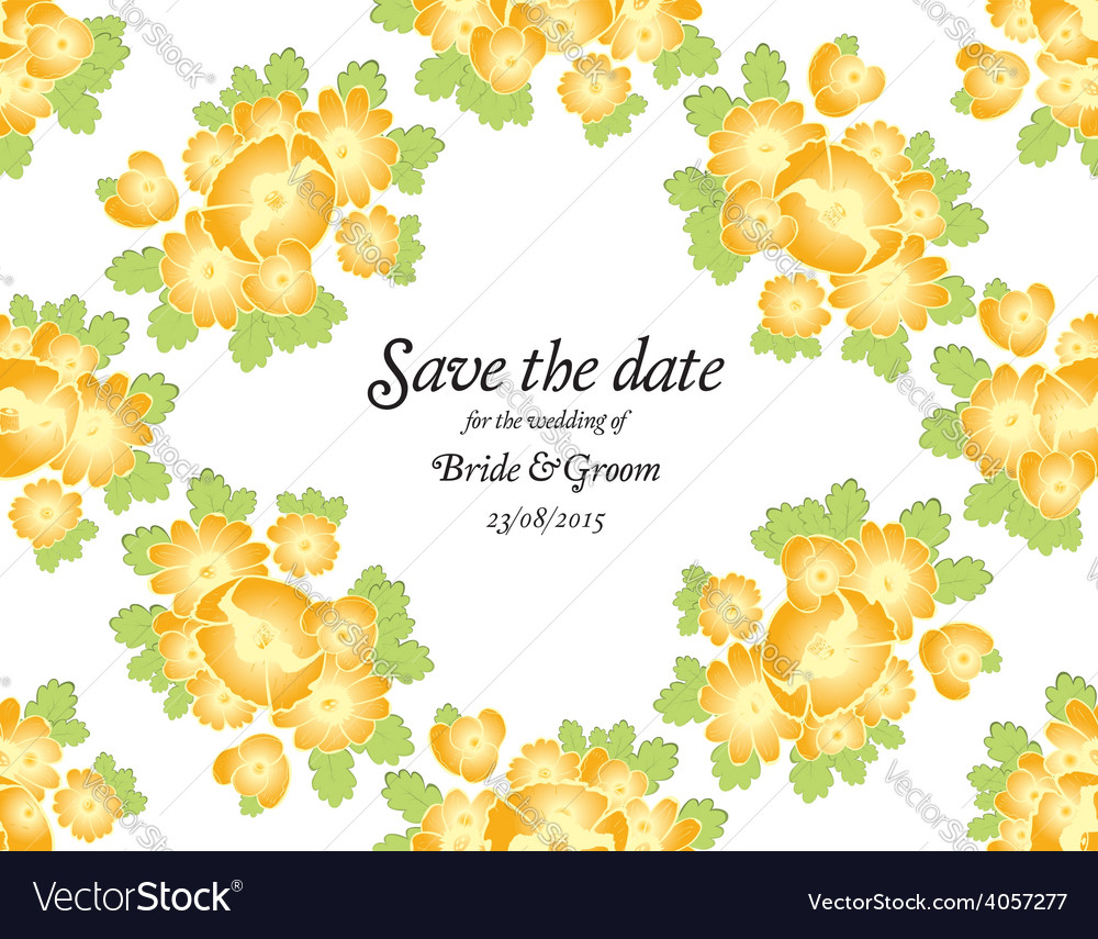 Save the date wedding invite card template vector | Price: 1 Credit (USD $1)