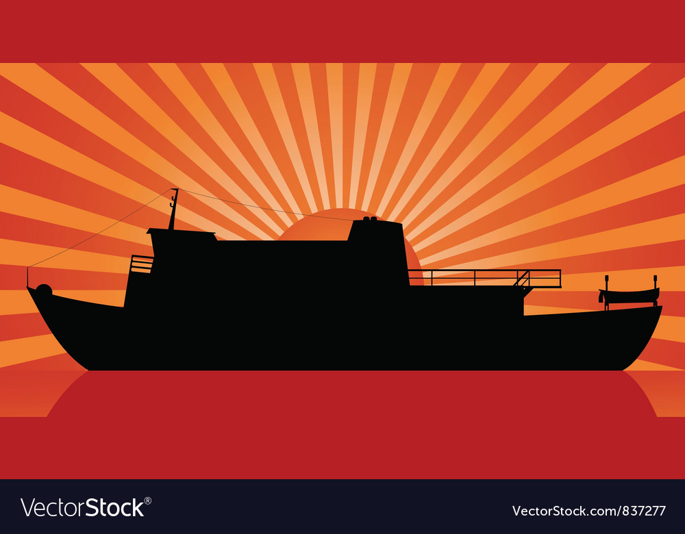 Sunset at sea vector | Price: 1 Credit (USD $1)