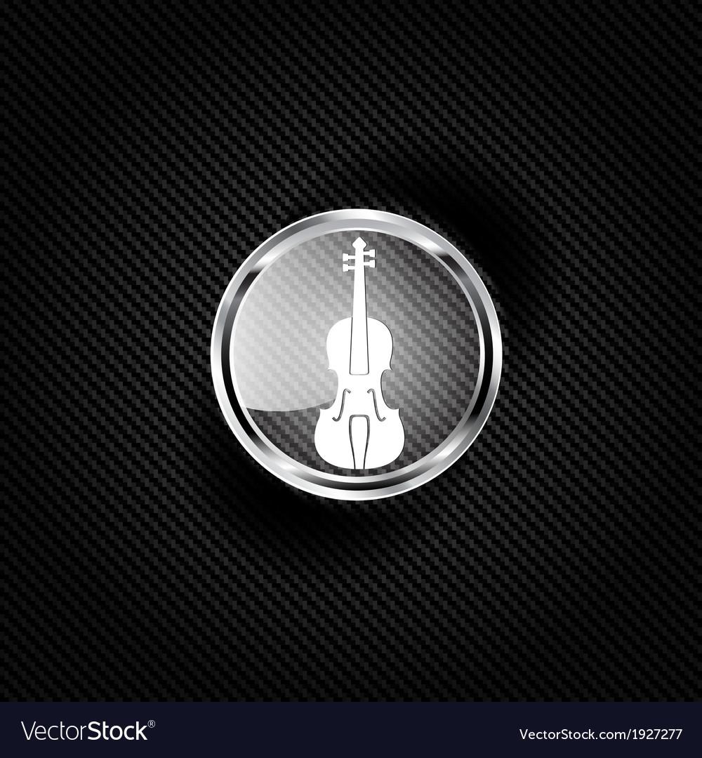 Violin icon music background vector   Price: 1 Credit (USD $1)