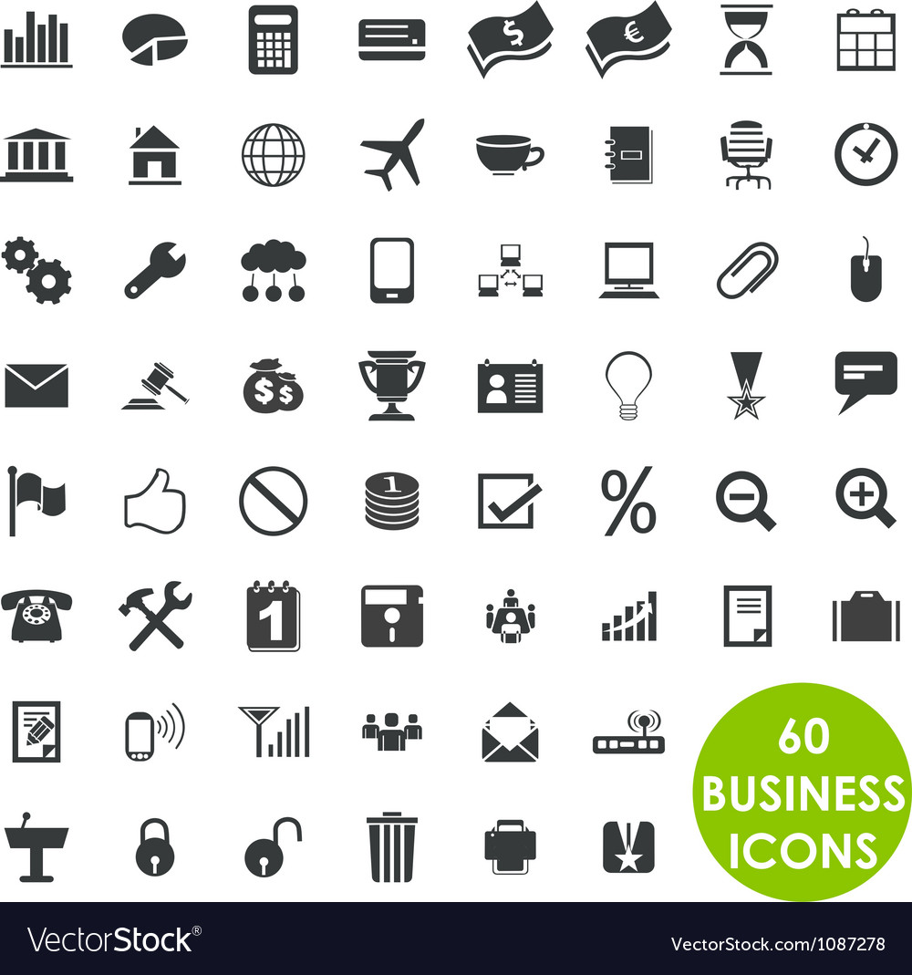 60 valuable creative business icons vector | Price: 1 Credit (USD $1)