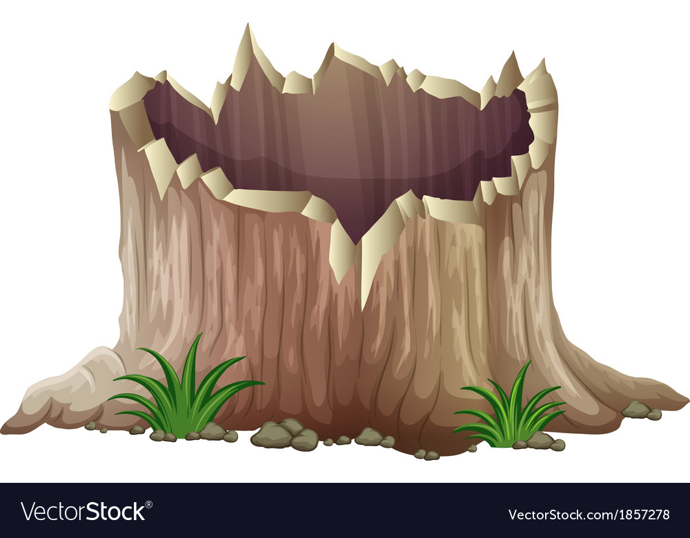A tree stump vector | Price: 3 Credit (USD $3)