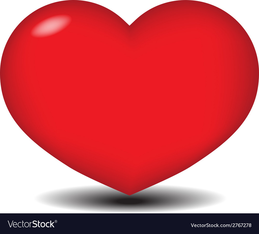 Big red heart vector | Price: 1 Credit (USD $1)