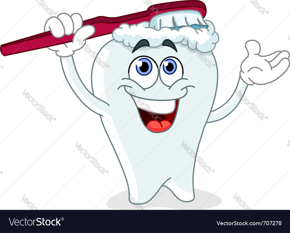 Brushing tooth vector | Price: 3 Credit (USD $3)