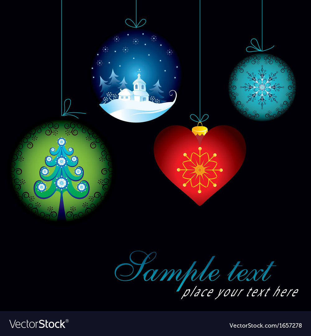 Decorative christmas card vector | Price: 1 Credit (USD $1)
