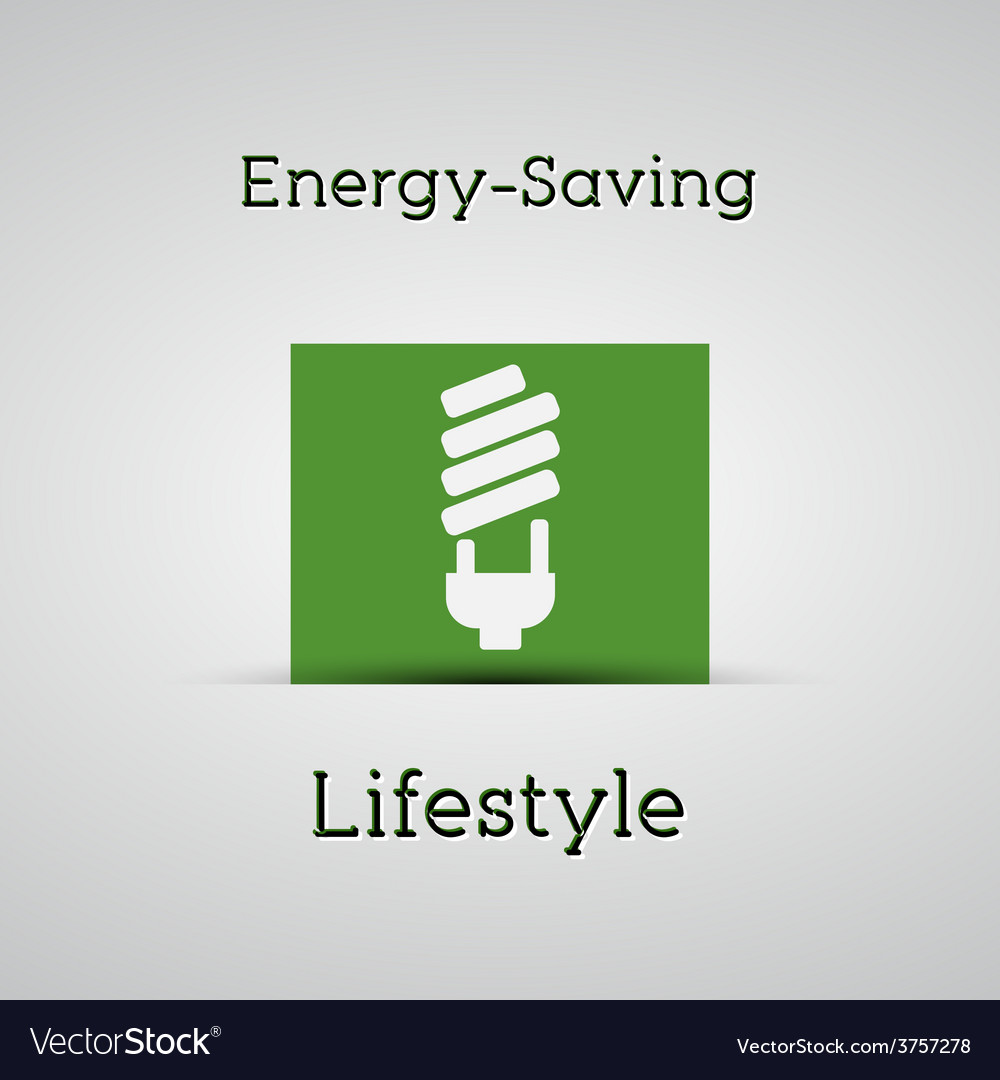 Energy saving lifestyle poster silver background vector   Price: 1 Credit (USD $1)