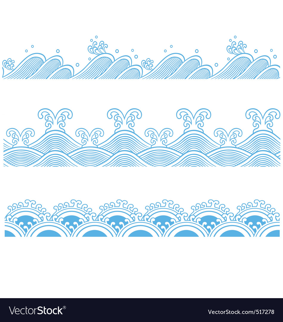Ocean seamless pattern vector | Price: 1 Credit (USD $1)