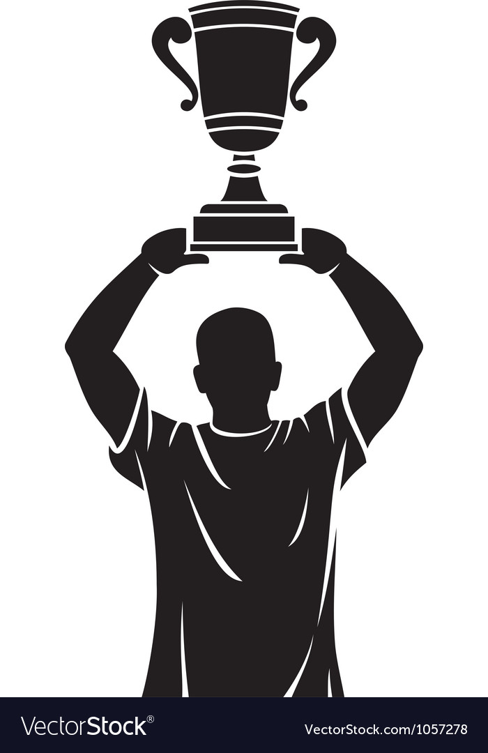 Player lifting trophy - champion vector | Price: 1 Credit (USD $1)