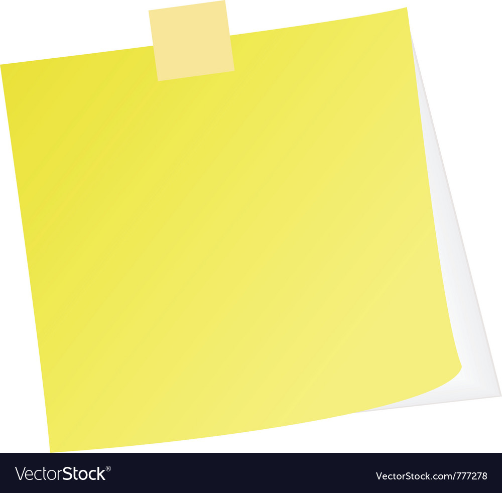 Post note vector | Price: 1 Credit (USD $1)