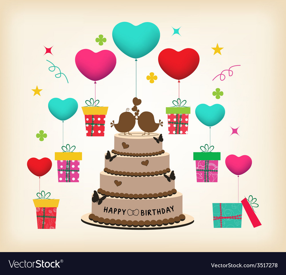 Retro surprise birthday vector