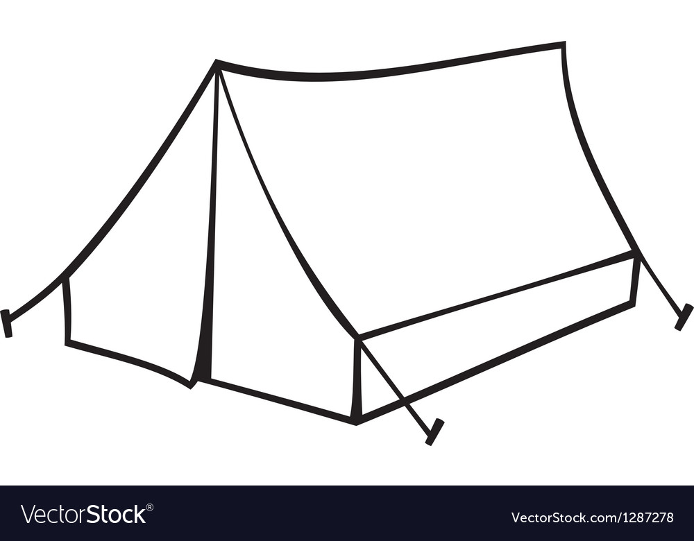 Tourist tent for travel and camping vector | Price: 1 Credit (USD $1)
