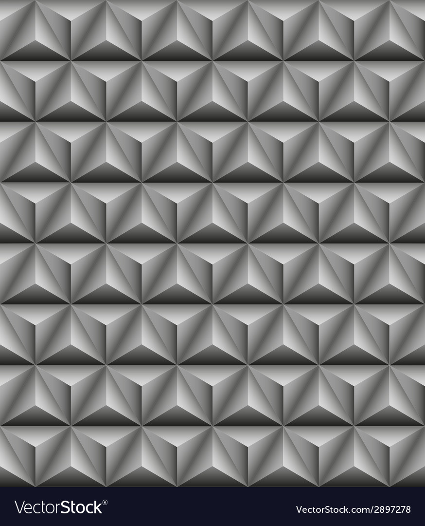 Tripartite pyramid gray seamless texture vector | Price: 1 Credit (USD $1)