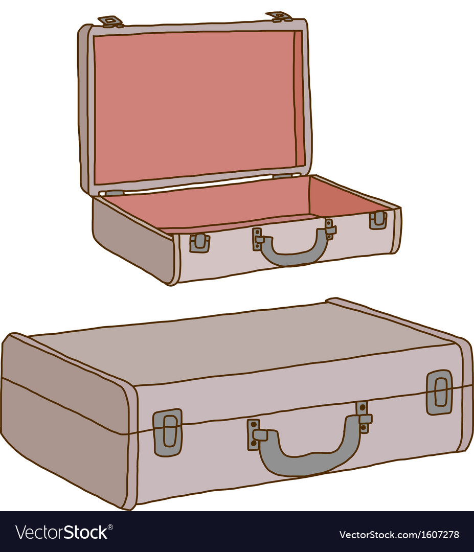 Vintage leather suitcase vector | Price: 1 Credit (USD $1)