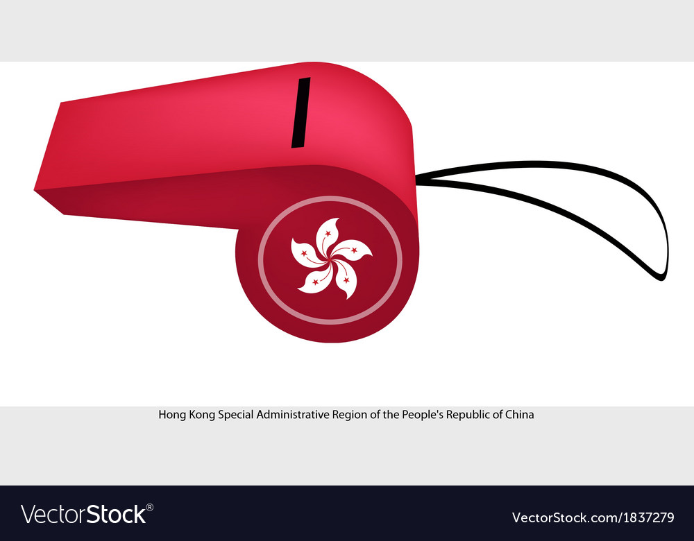 A beautiful red whistle of hong kong vector | Price: 1 Credit (USD $1)
