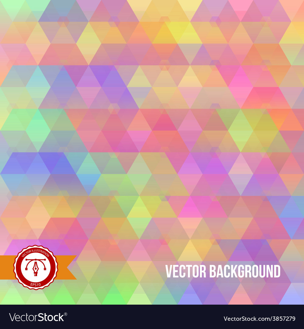 Abstract colorful hexagon background vector | Price: 1 Credit (USD $1)
