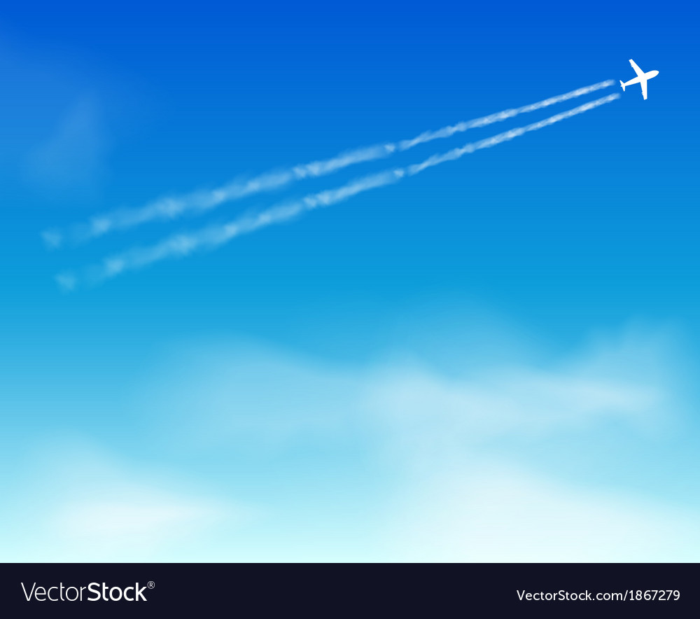 Airplane in the sky vector | Price: 1 Credit (USD $1)