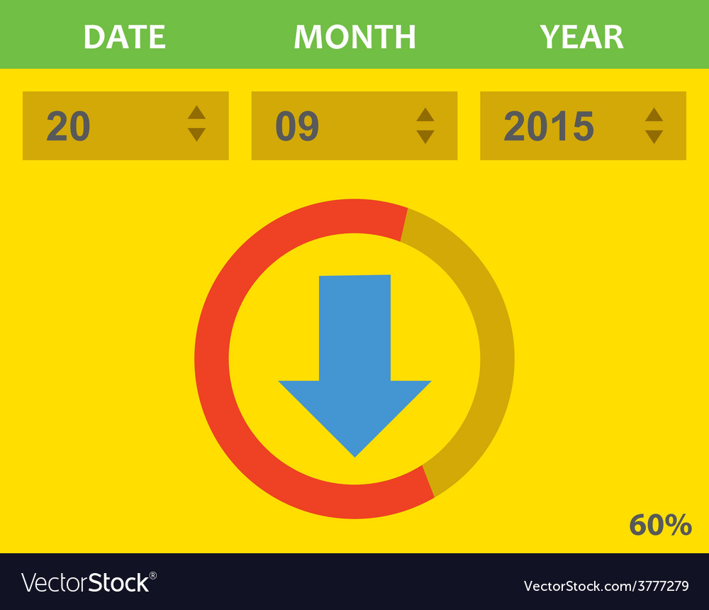 Download with dates vector | Price: 1 Credit (USD $1)