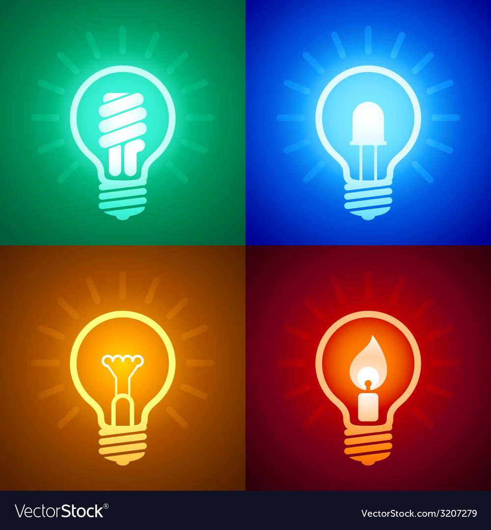 Evolution of lighting equipment vector   Price: 1 Credit (USD $1)