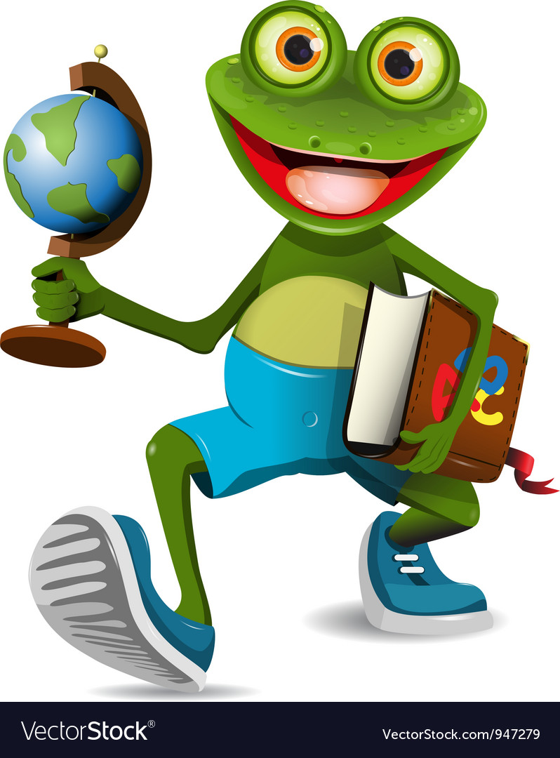 Frog student vector | Price: 3 Credit (USD $3)
