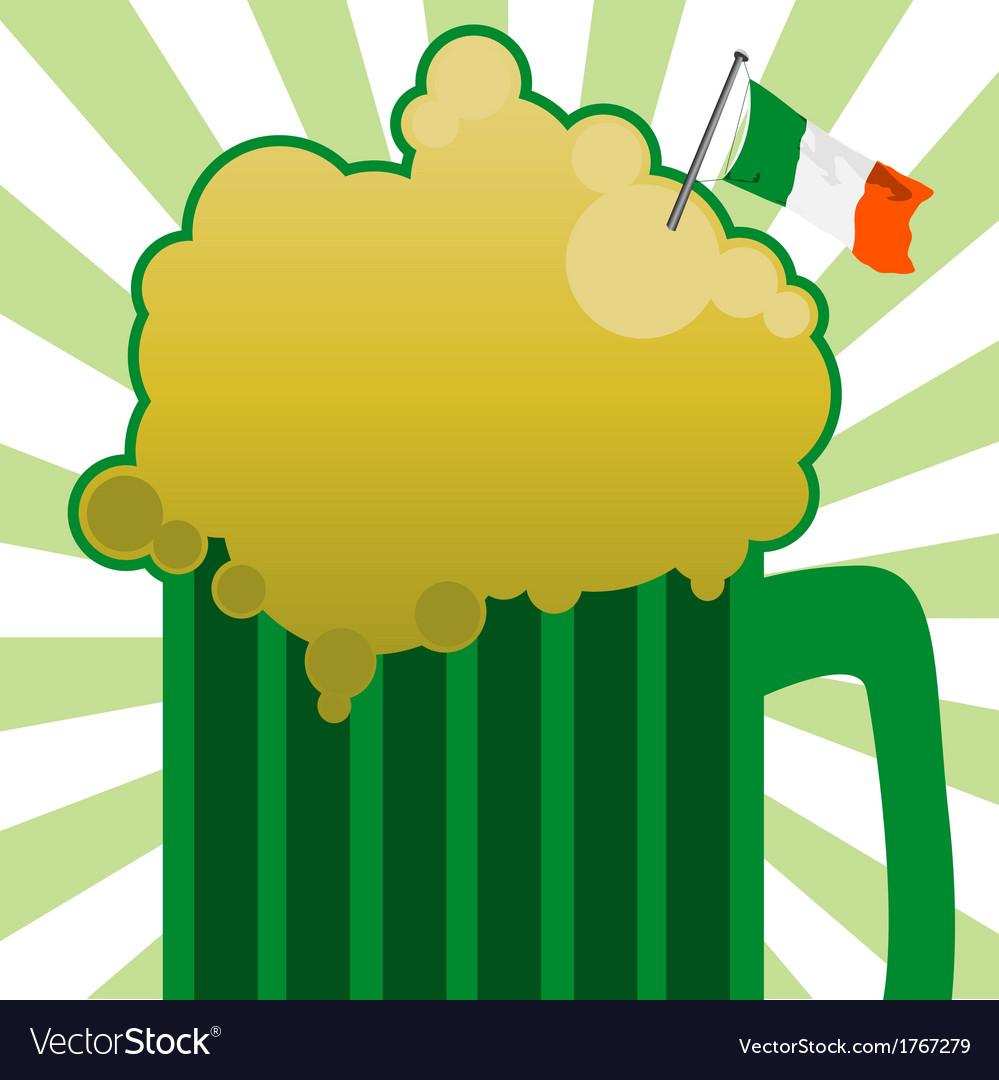 Green beer vector | Price: 1 Credit (USD $1)