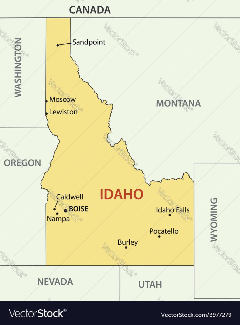 Idaho - map vector | Price: 1 Credit (USD $1)