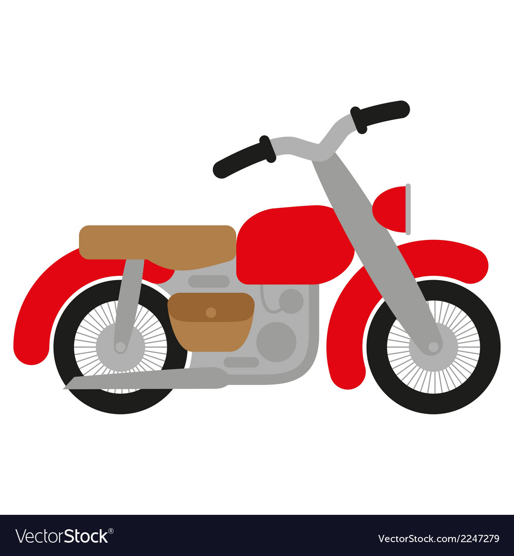 Red motorcycle vector | Price: 1 Credit (USD $1)
