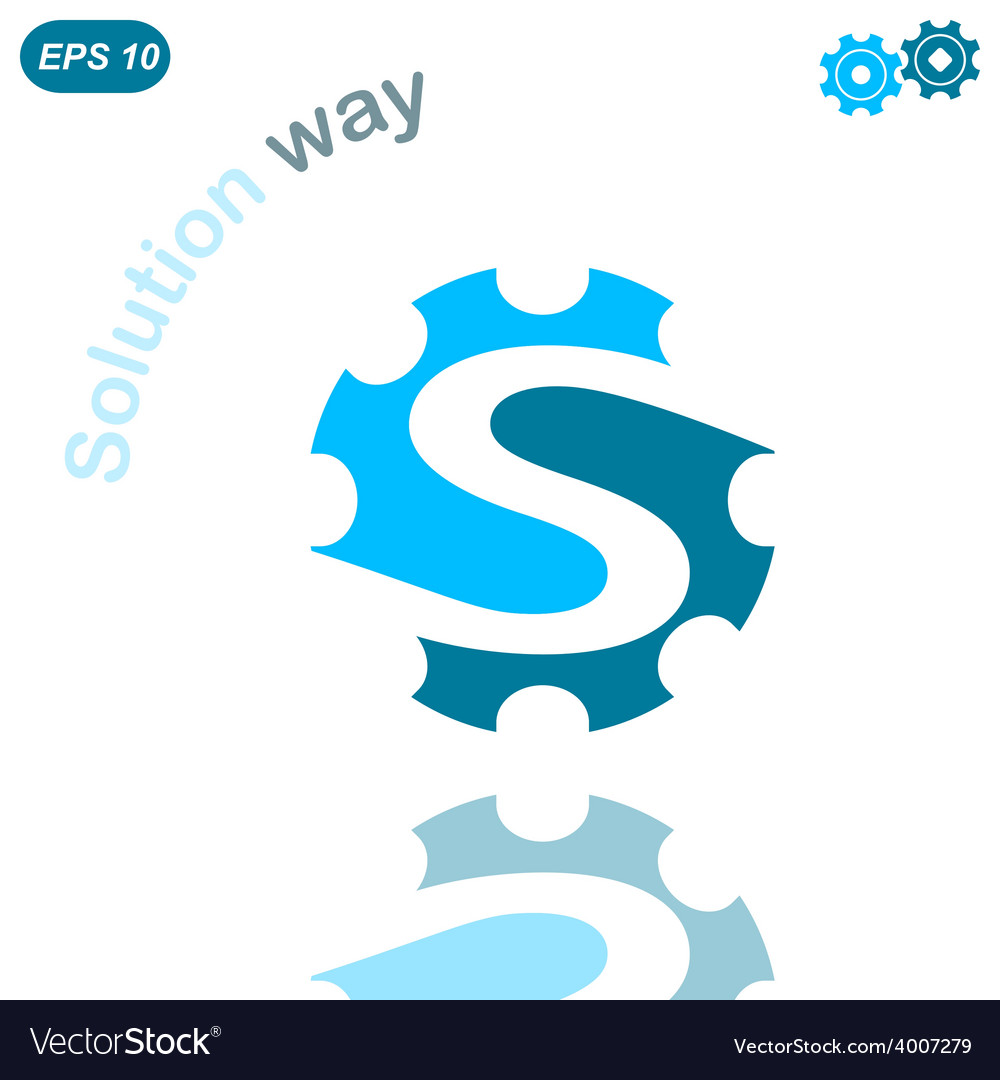 S letter solution way conception vector | Price: 1 Credit (USD $1)