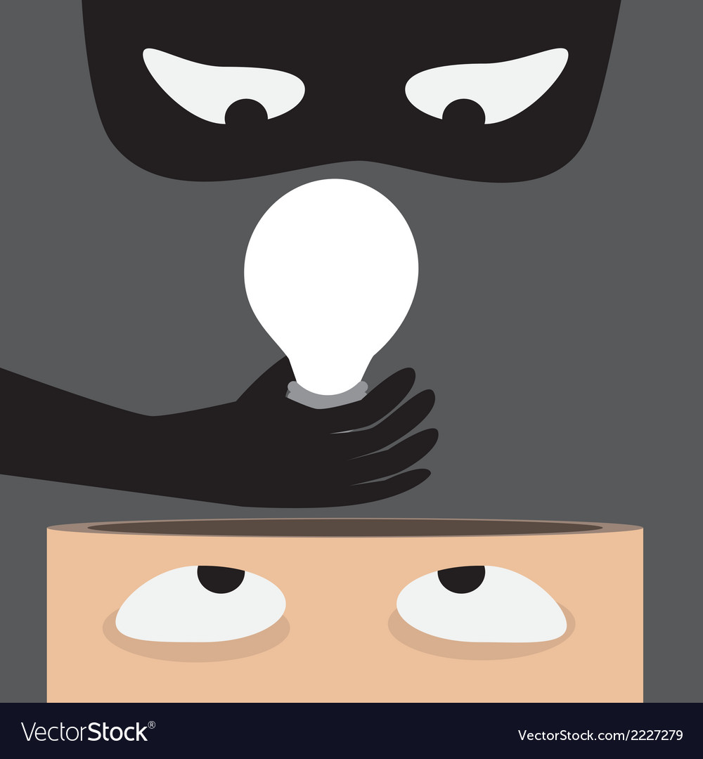 Thieves steal idea vector | Price: 1 Credit (USD $1)