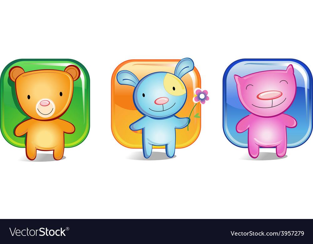 Toy animals vector | Price: 3 Credit (USD $3)