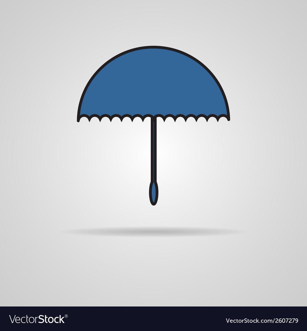 Umbrella icon vector   Price: 1 Credit (USD $1)