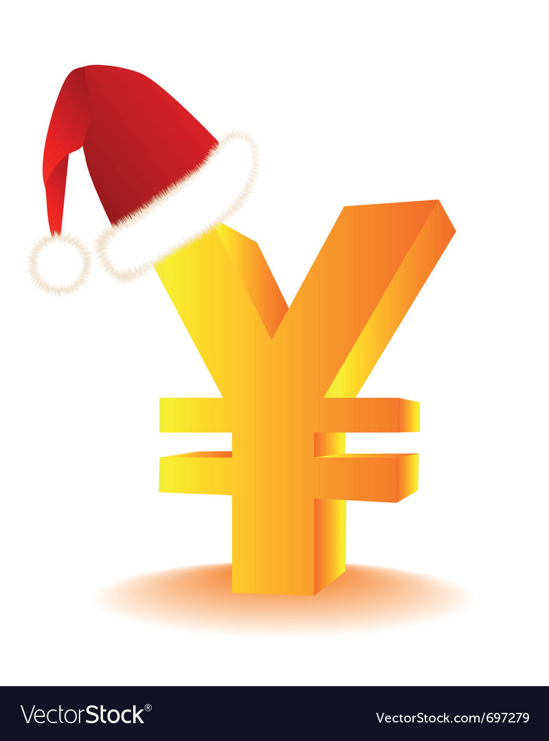 Yen currency xmas vector | Price: 1 Credit (USD $1)