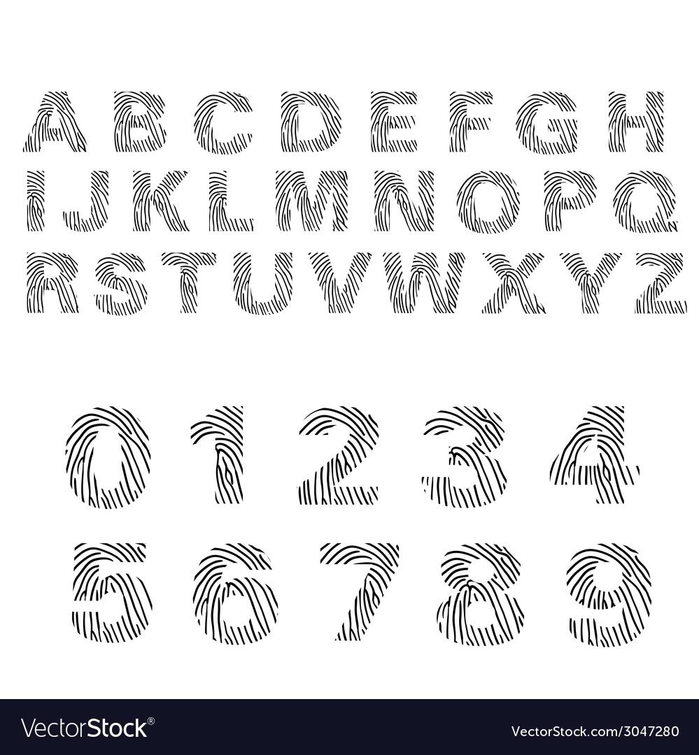 Alphabet of fingerprint vector | Price: 1 Credit (USD $1)