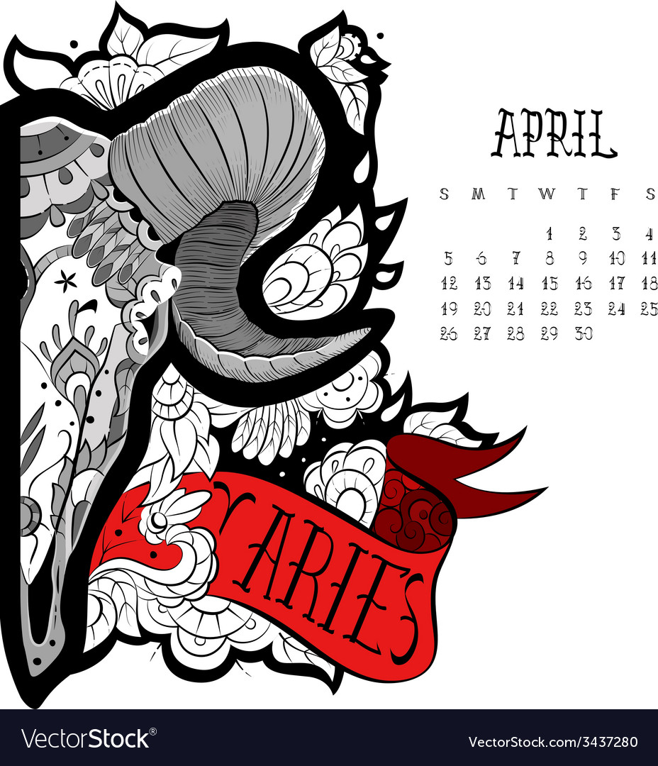 Aries tattoo vector | Price: 1 Credit (USD $1)