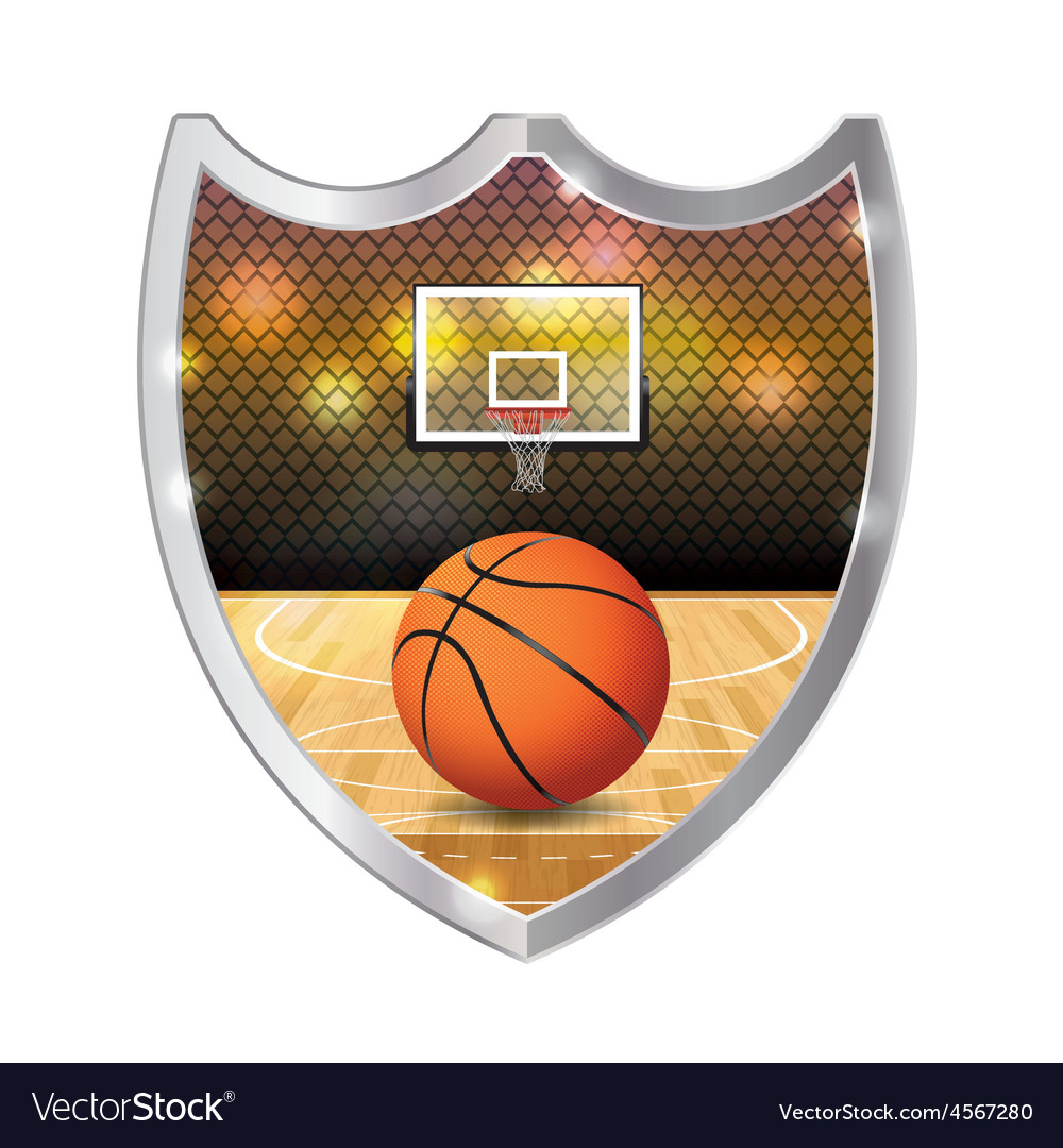 Basketball badge emblem vector | Price: 1 Credit (USD $1)